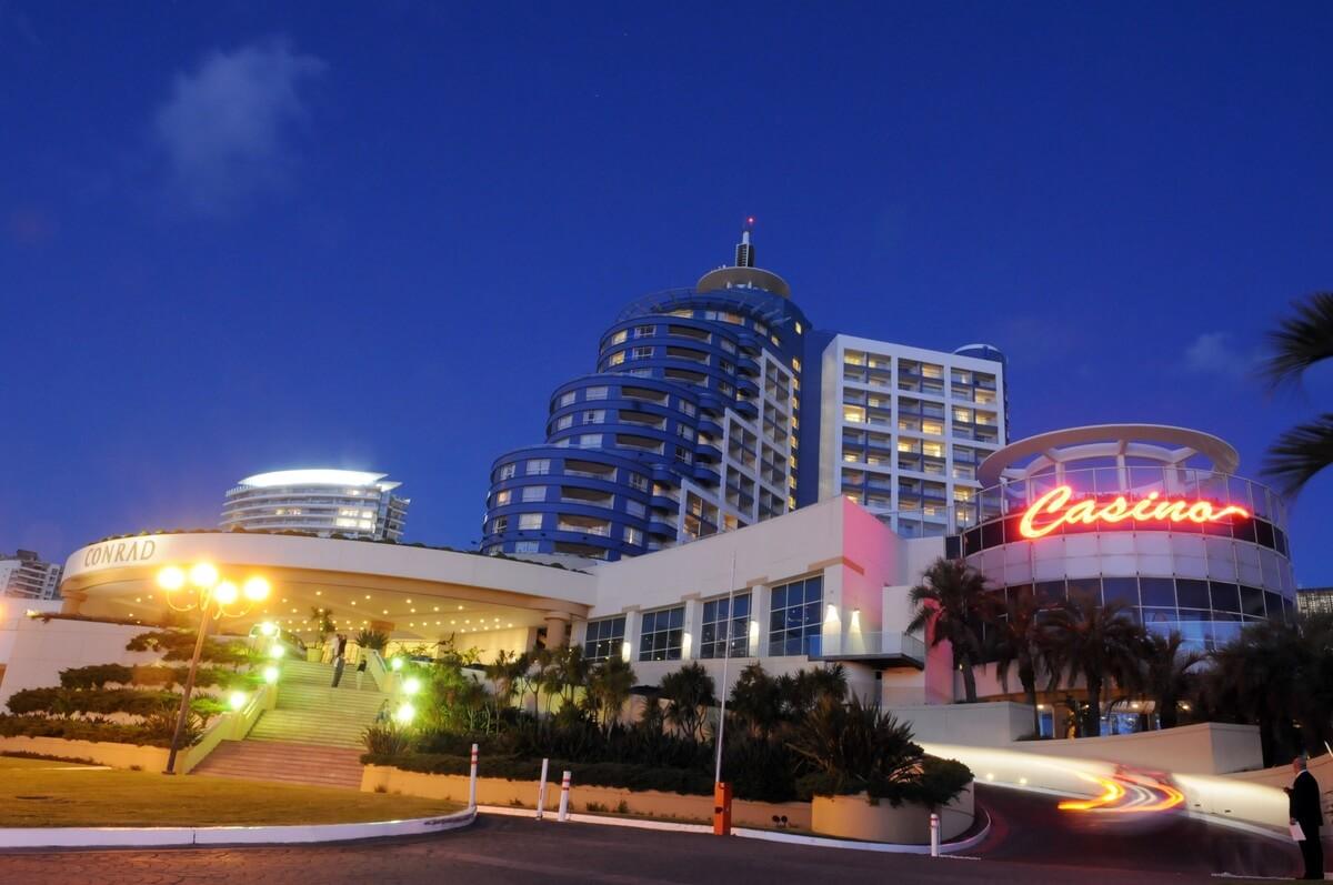 conrad hotel facade