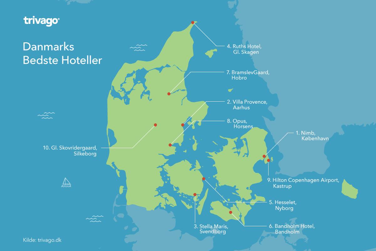 Top 10 danske hoteller 2015