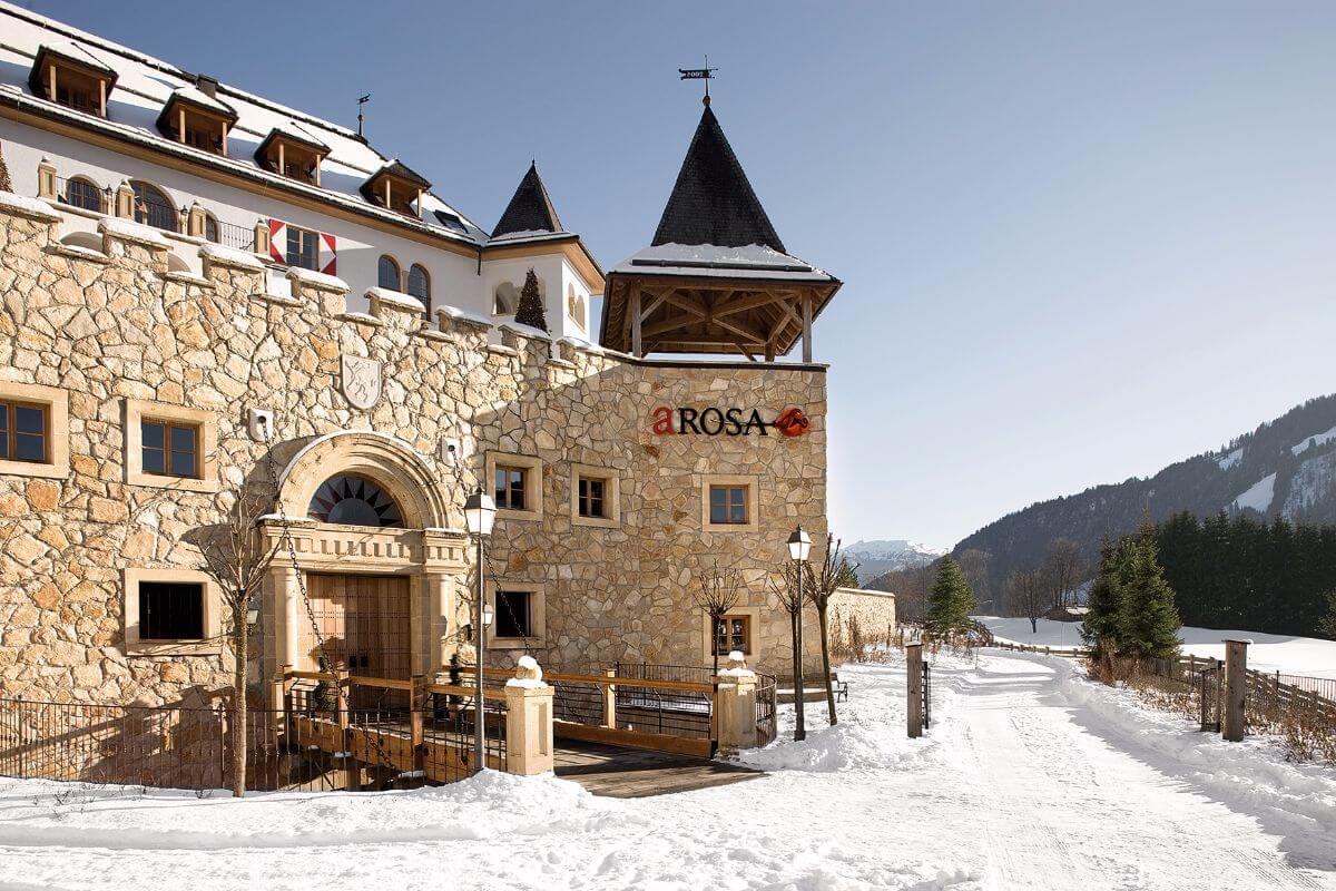 The A ROSA Kitzbühel - voted as Austria's best ski hotel.