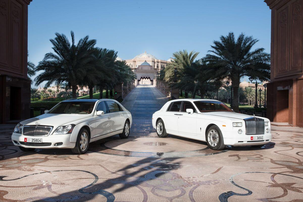 Men can experience their dream car at the Emirates Palace.