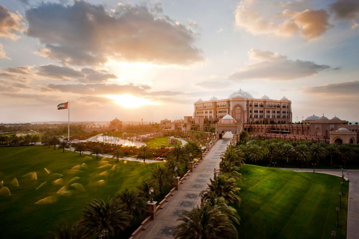 The Emirates Palace is fitting for the high-roller.