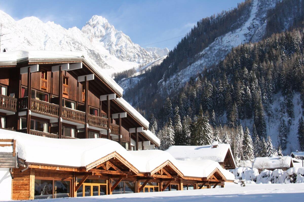 The luxury ski hotel Les Grands Montets.