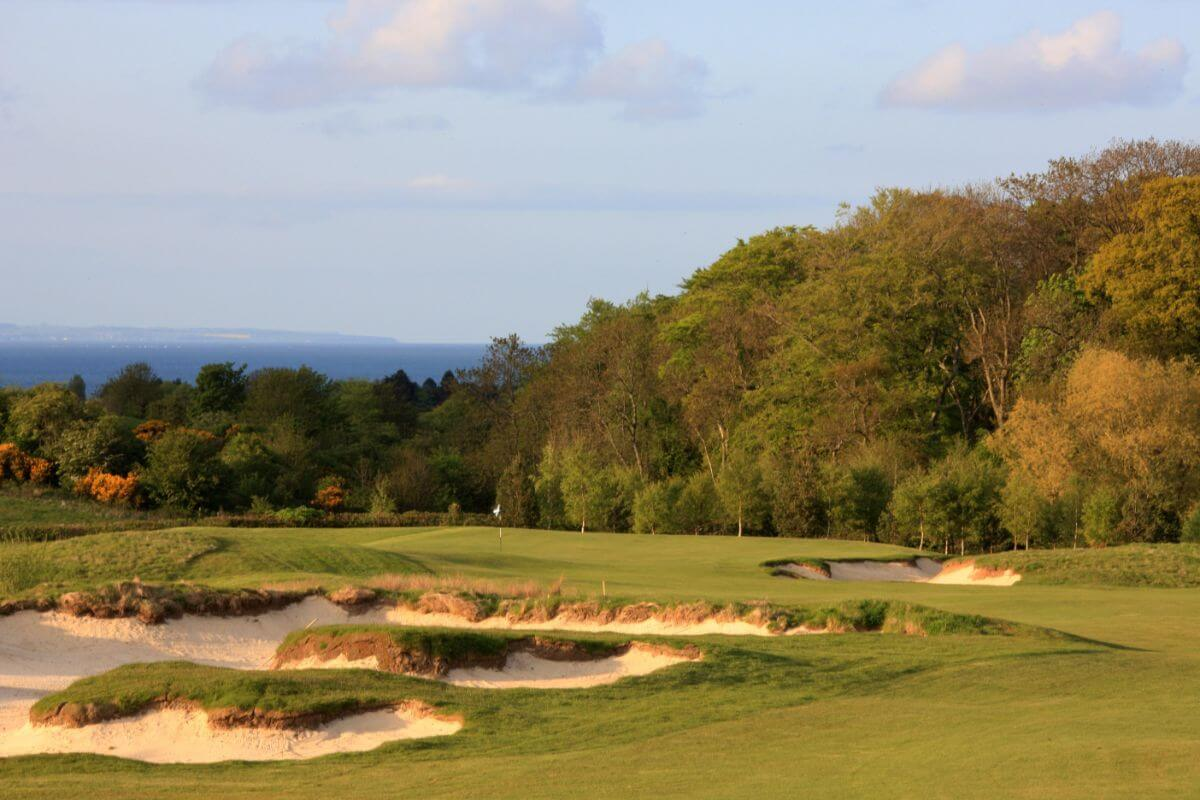 The golf course at the Old Course Hotel.