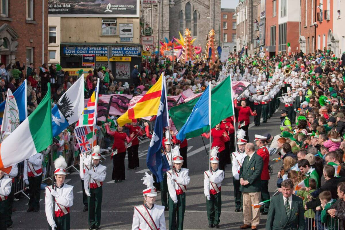 St. Patrick's Day in Dublin, Ireland.