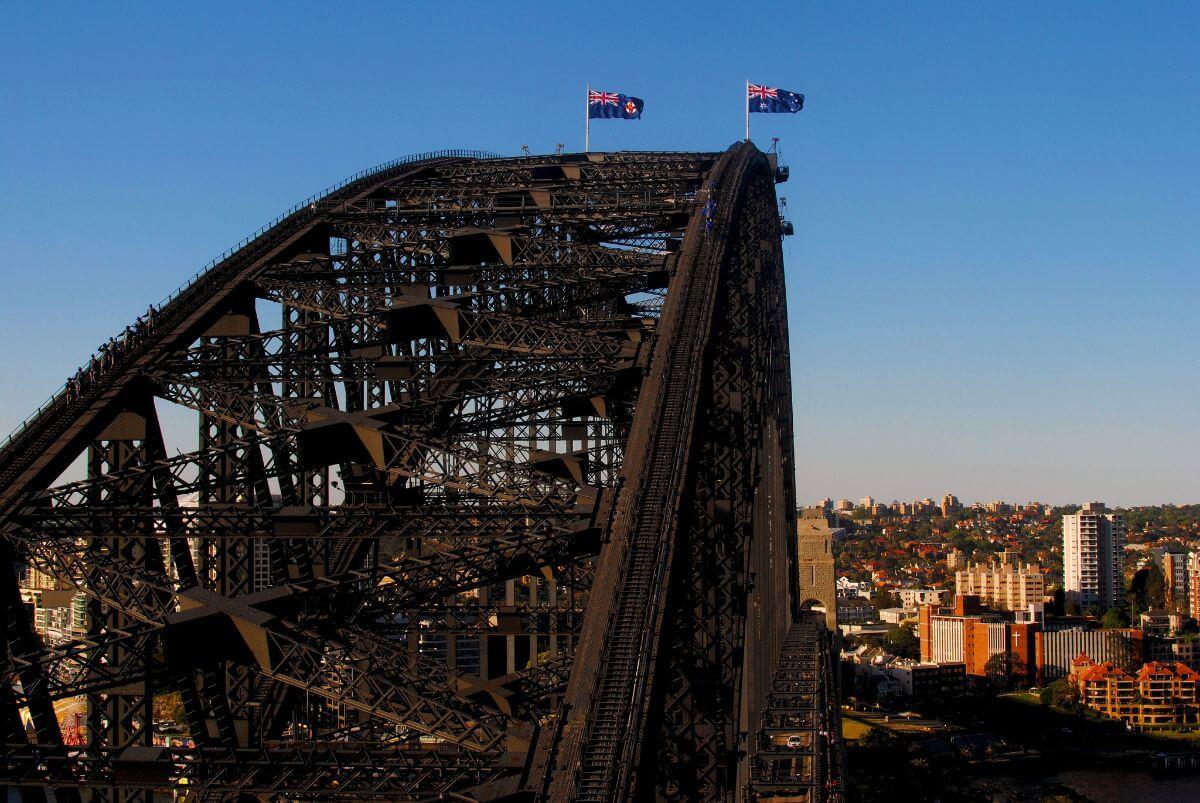 View from the Sydney Harbour Bridge Pylon Lookout.