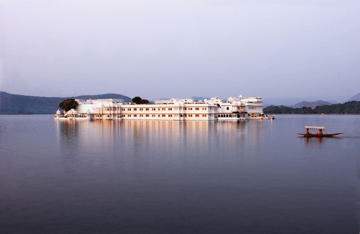 The Taj Lake Palace in India.