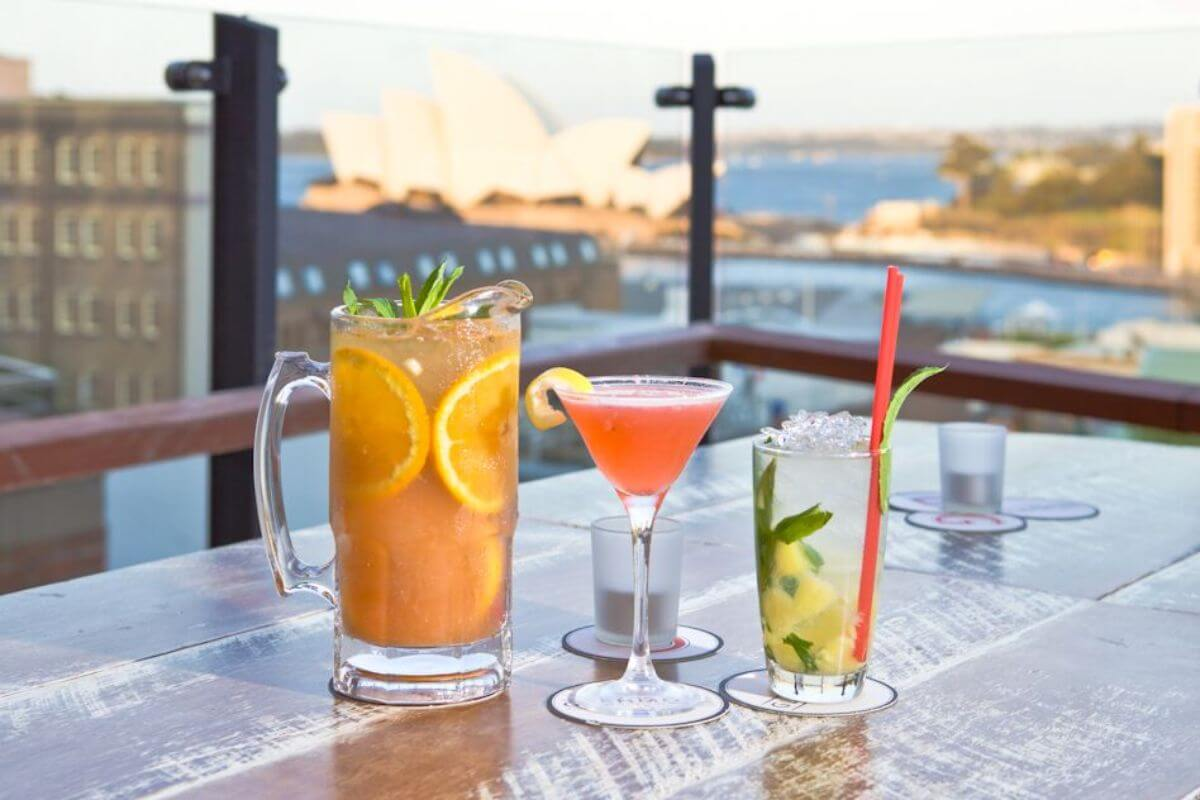 Rooftop views at the Glenmore Hotel, Sydney