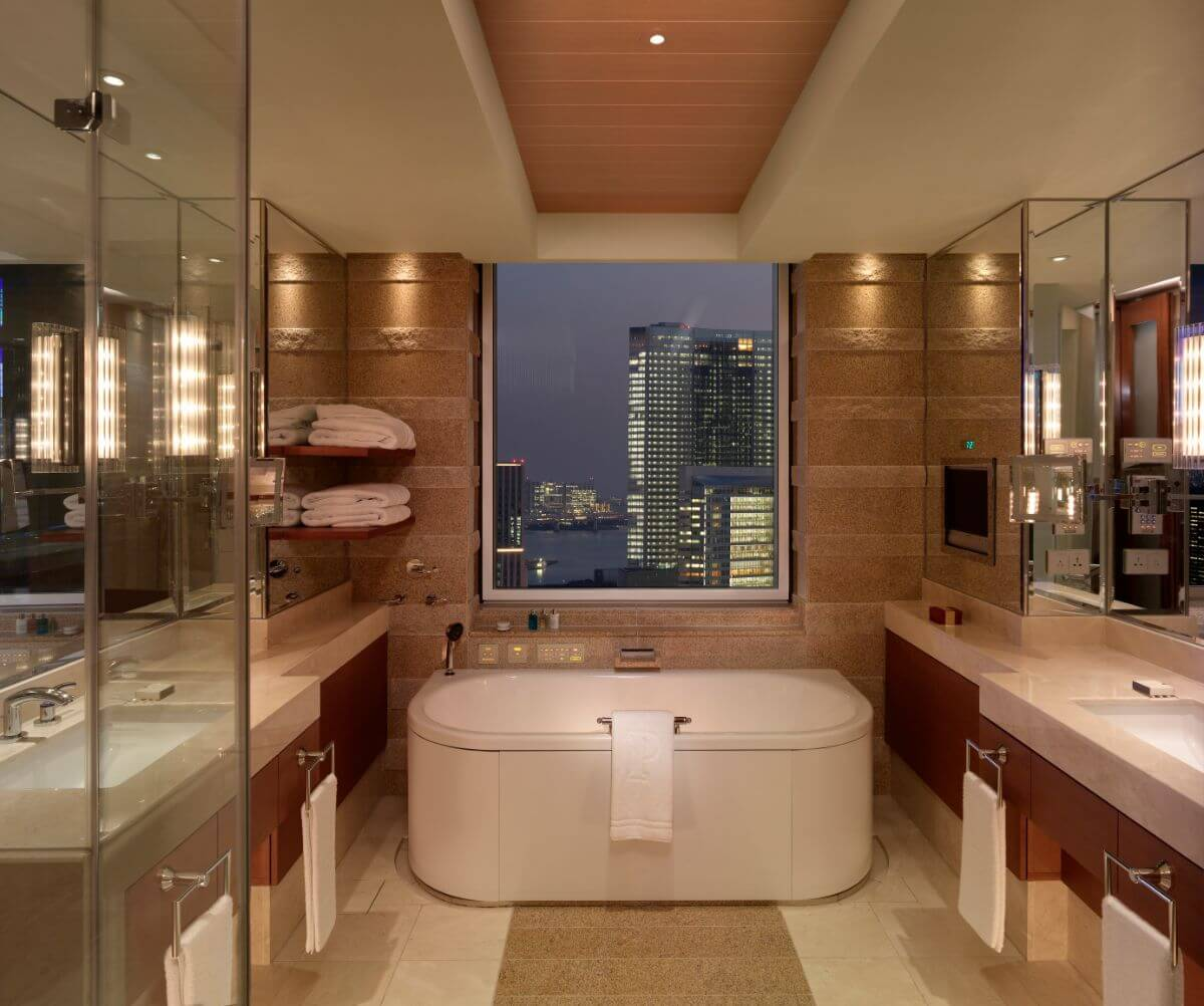 The Peninsula Hotel in Tokyo offers awesome views of the skyline.