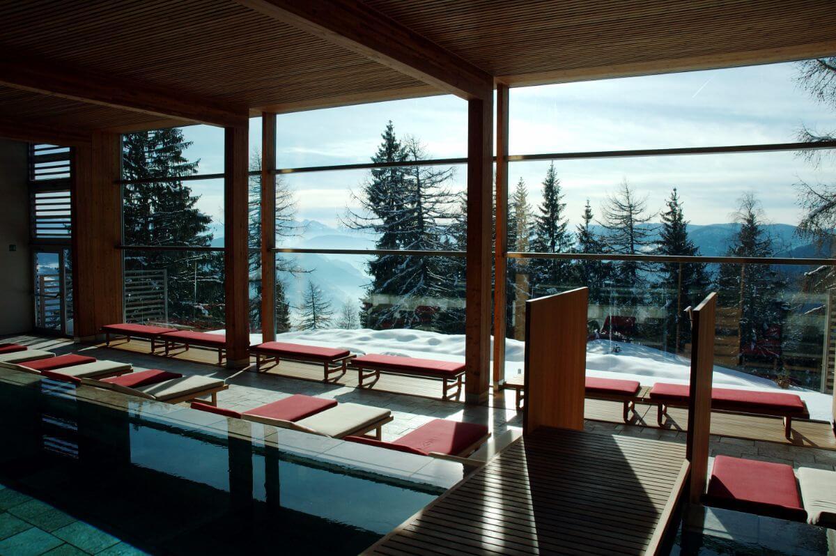 The spa at the Vigilius Mountain Resort.