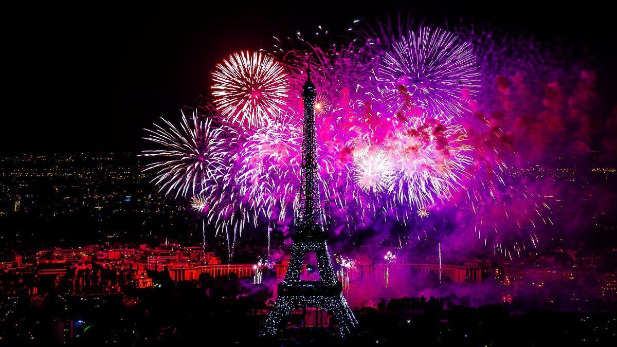 Bastille Day in Paris, France.