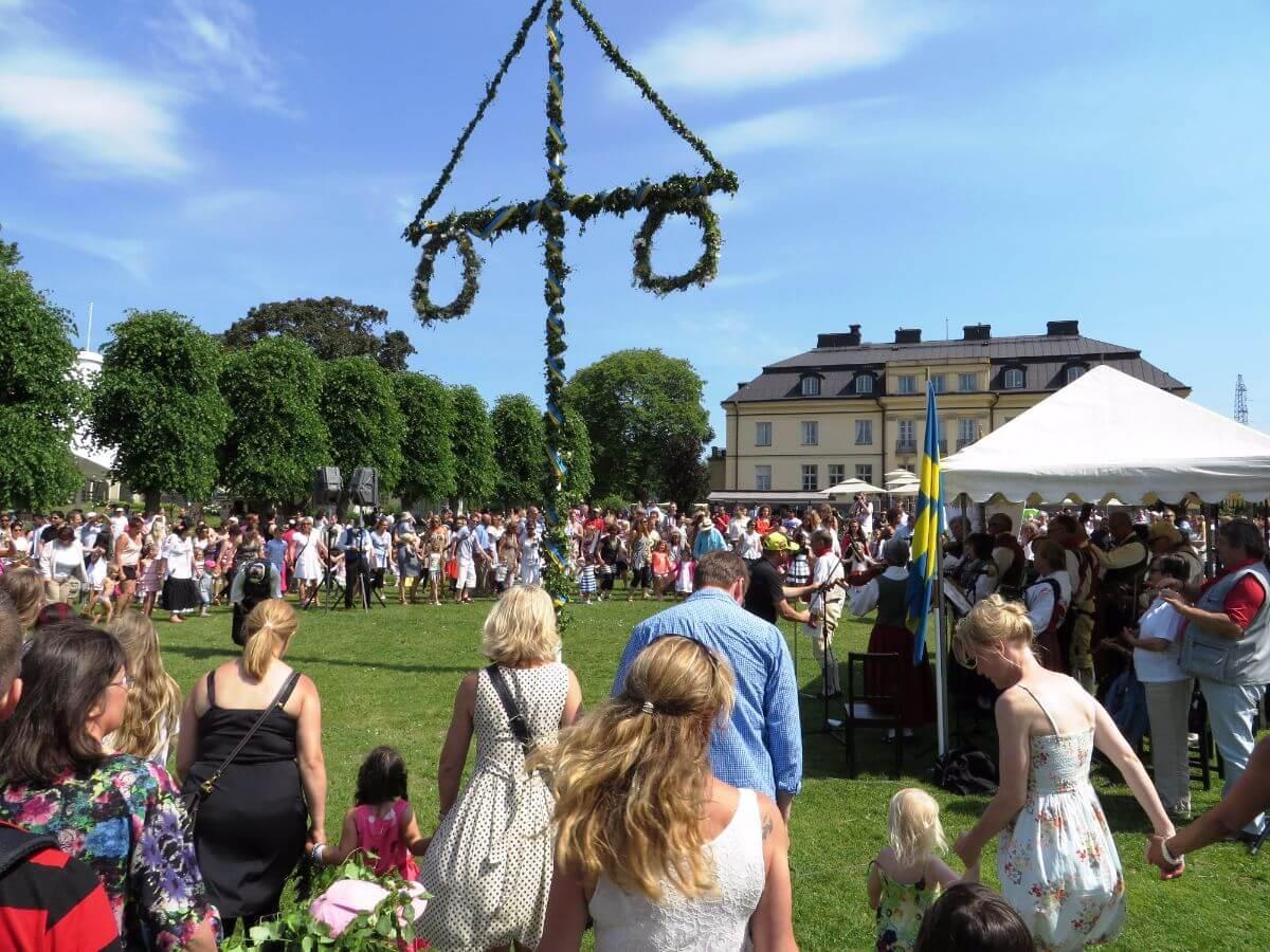 Midsummer (or Midsommar) celebrations in Sweden.