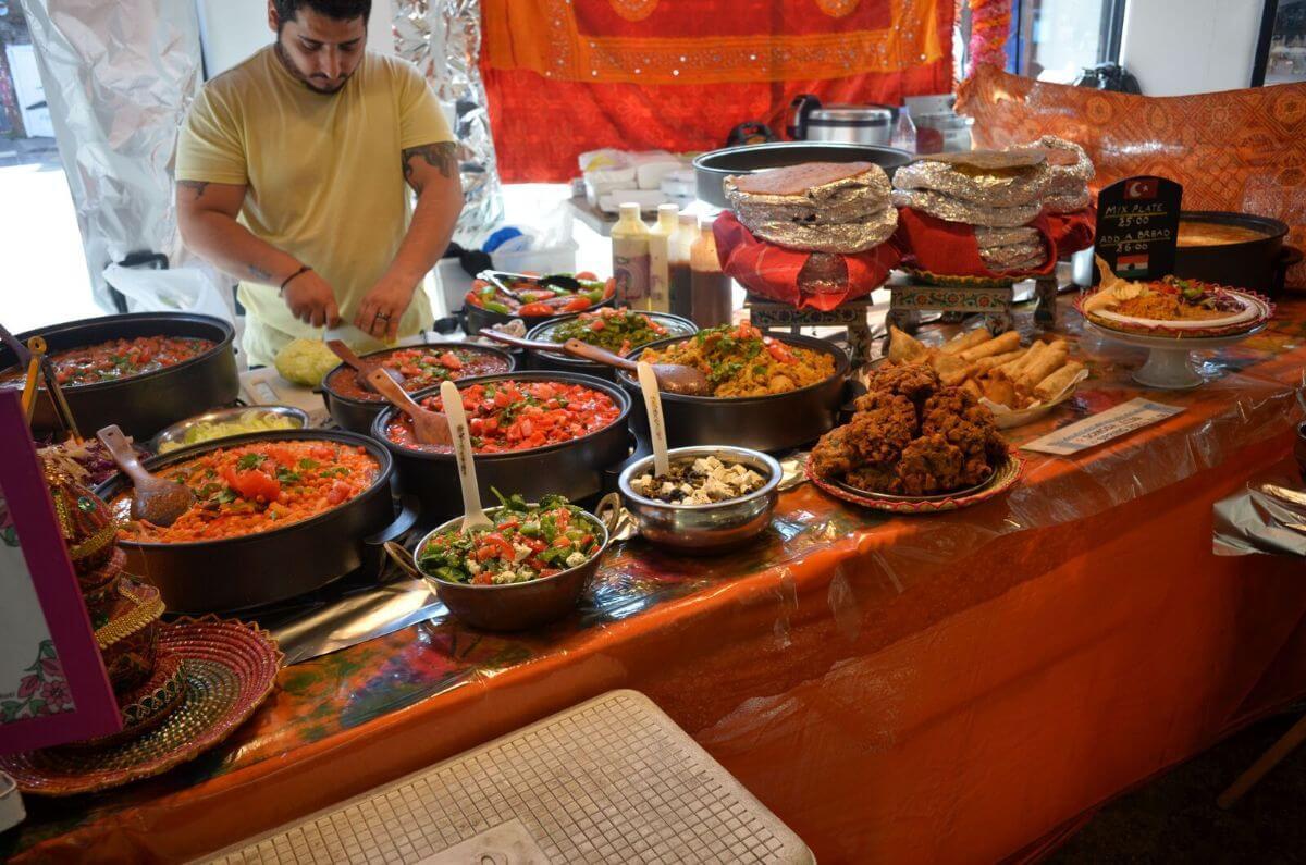 street food, brick Lane