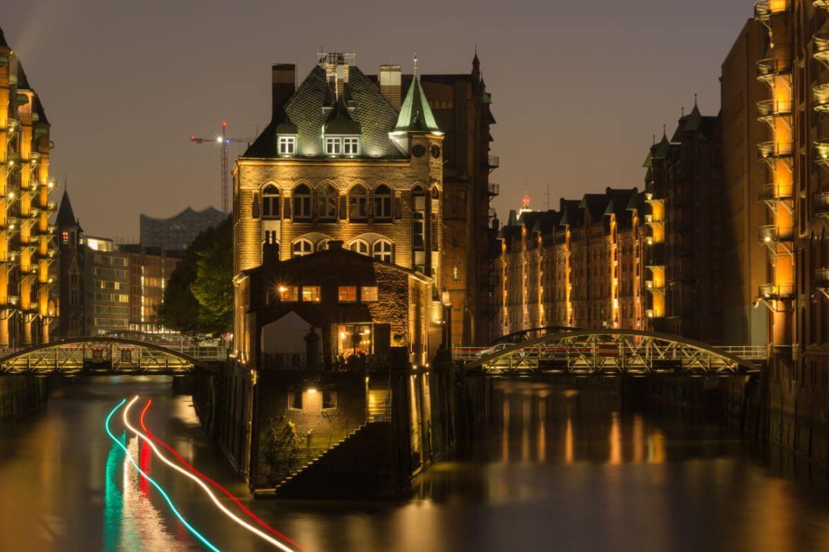 The Speicherstadt in Hamburg, Germany