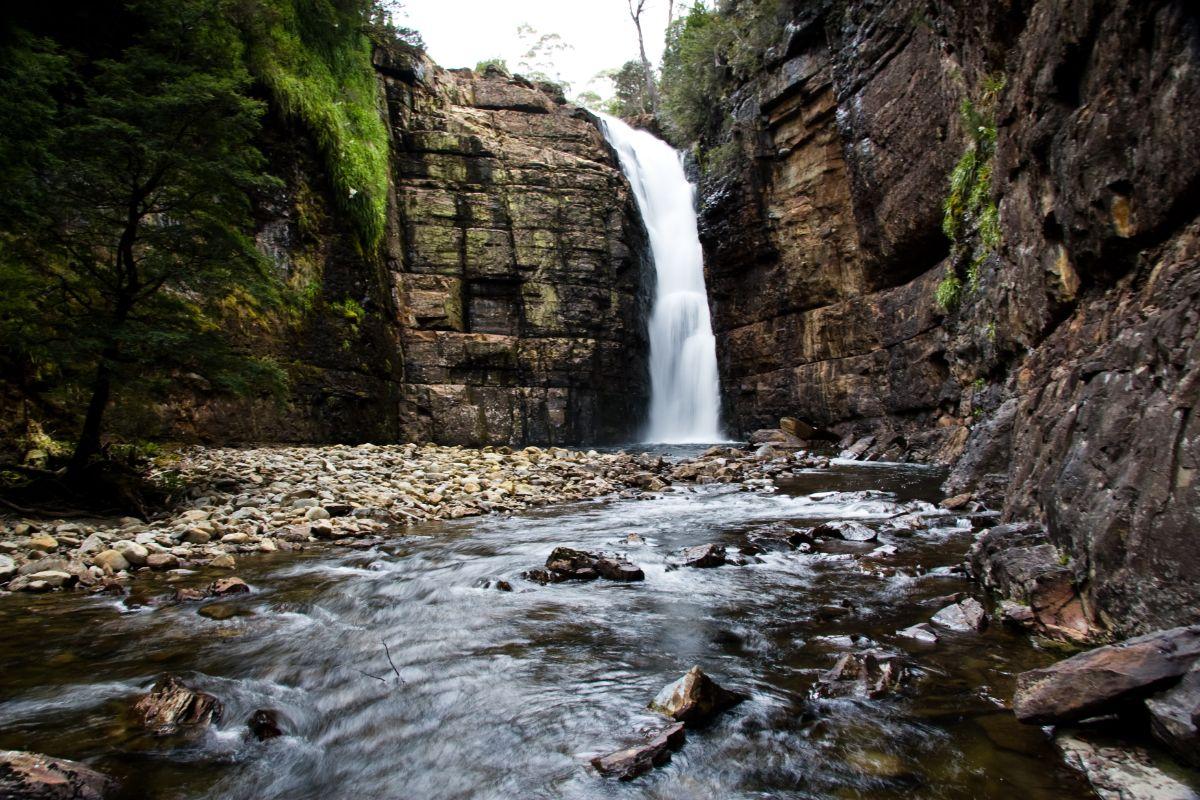 Hartnett Falls on the Overland Track, Tasmania