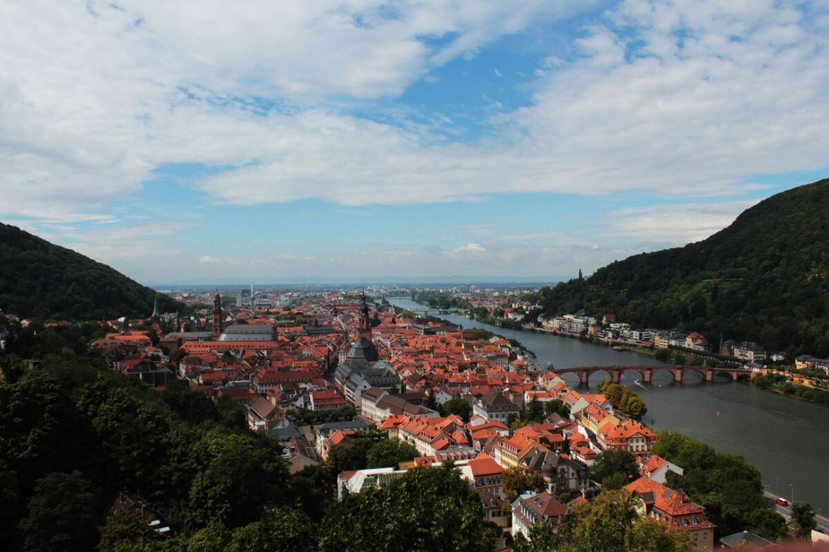 The romantic historical city, Heidelberg, Germany