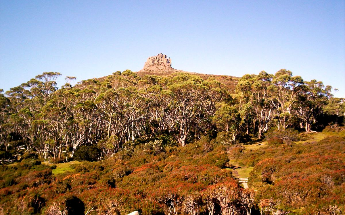 Rock formation on the Overland Track, Tasmania