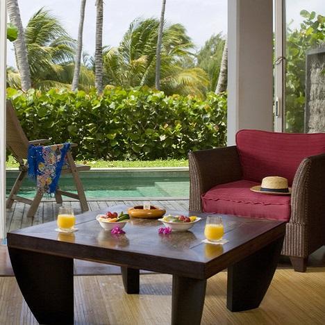 Terrasse avec piscine privée - Chambre hôtel Cap Est Lagoon Resort - Martinique