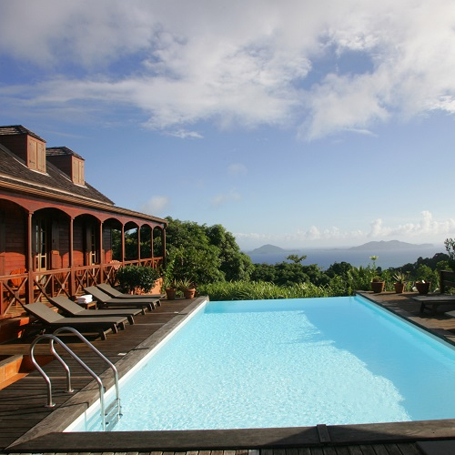 Piscine avec vue sur la mer - Hôtel Le Jardin Malanga - Guadeloupe