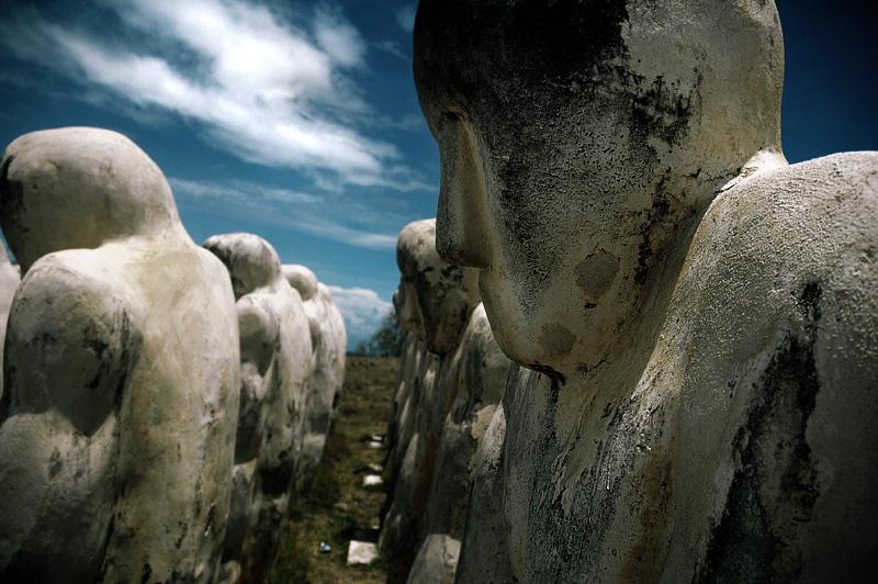Les statues du Mémorial du Cap 110 - Le Diamant - Martinique