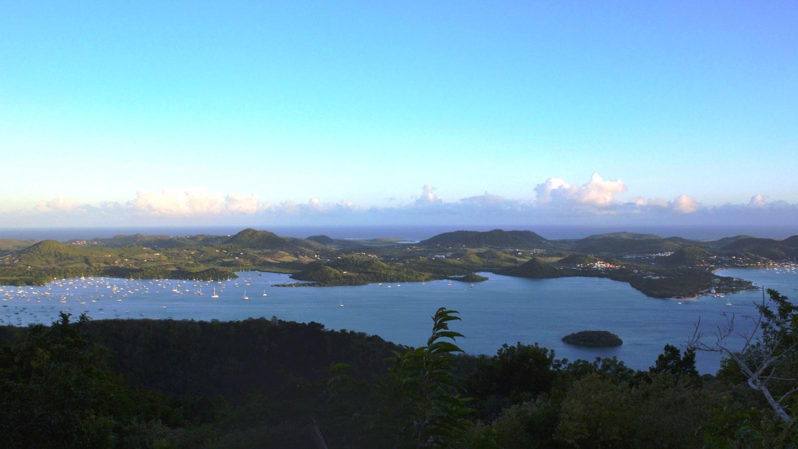 Vue de la baie du Marin et sa marina - Martinique