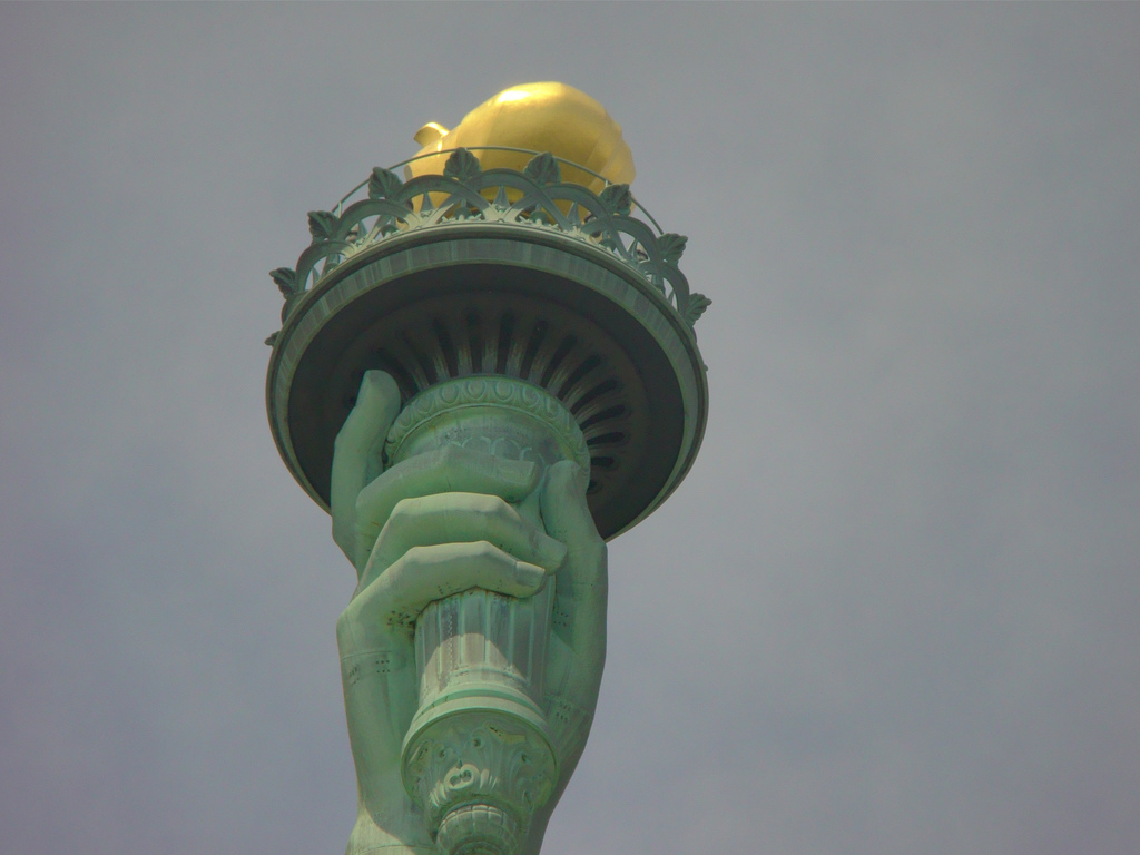 La flamme de la Statue de la Liberté