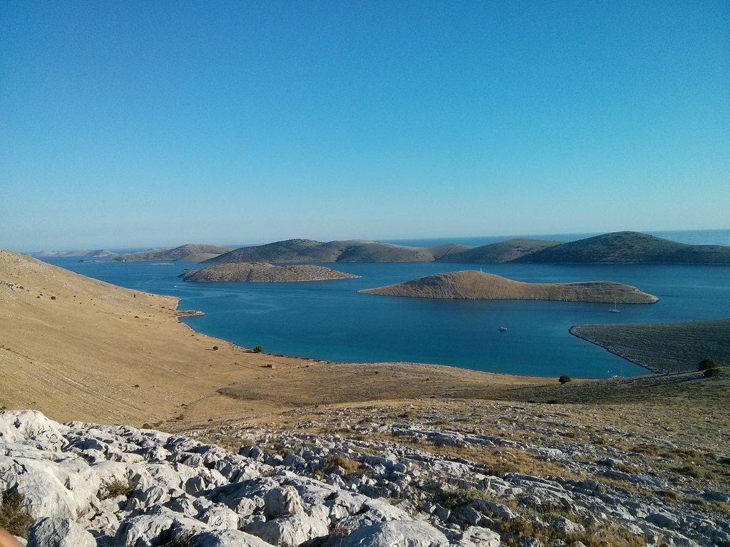 L'archipel des îles du parc national de Kornati en Croatie