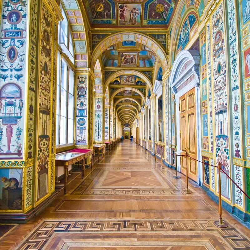 Couloir orné - Musée de l'Ermitage - Saint-Pétersbourg