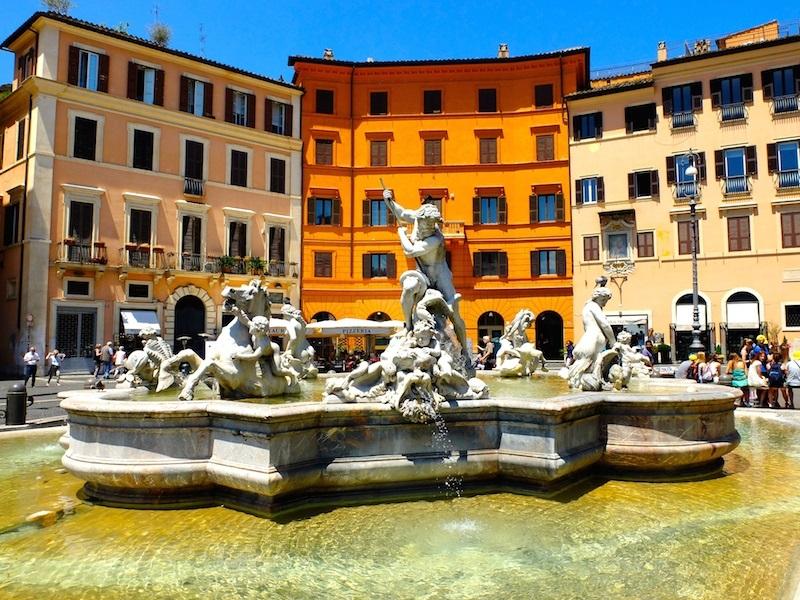 Fontaine de Trastevere à Rome