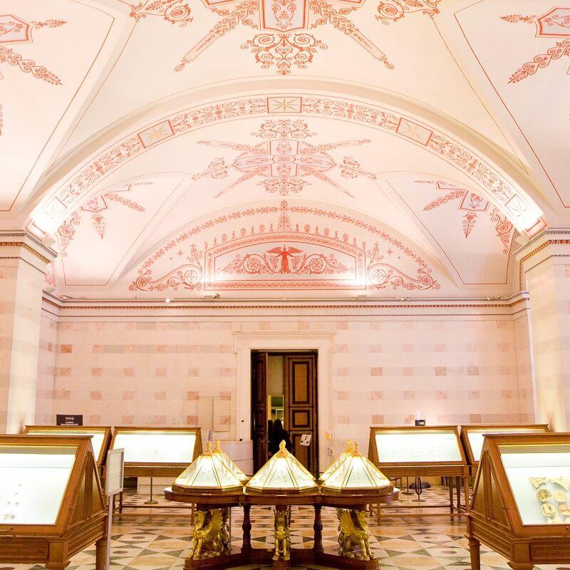 Salle d'exposition - Musée de l'Ermitage - Saint-Pétersbourg