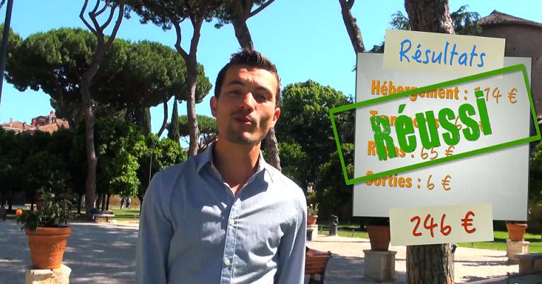 Challenge #bonsplanstrivago réussi pour Alexandre du blog vizeo en week-end à Rome