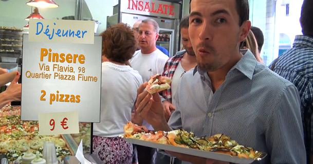 Pizza à la pizzeria Pinsere à Rome