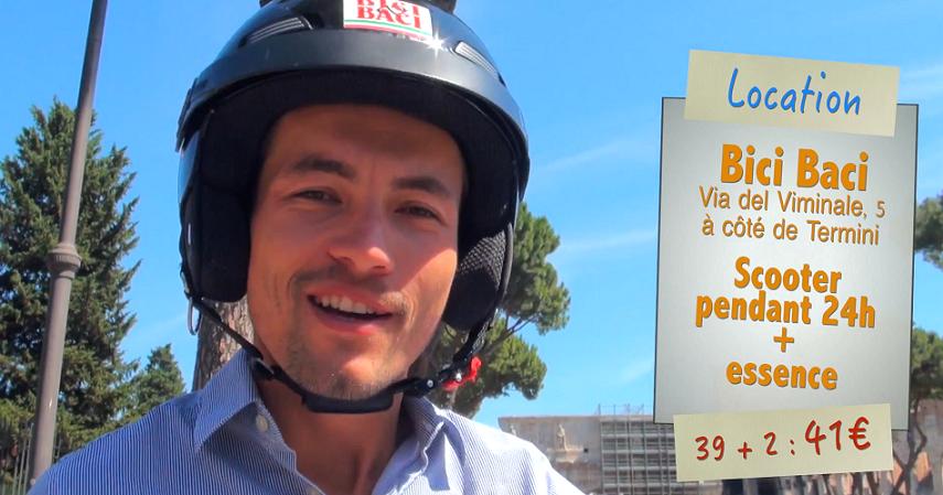 Location de scooter à Bici Baci à Rome