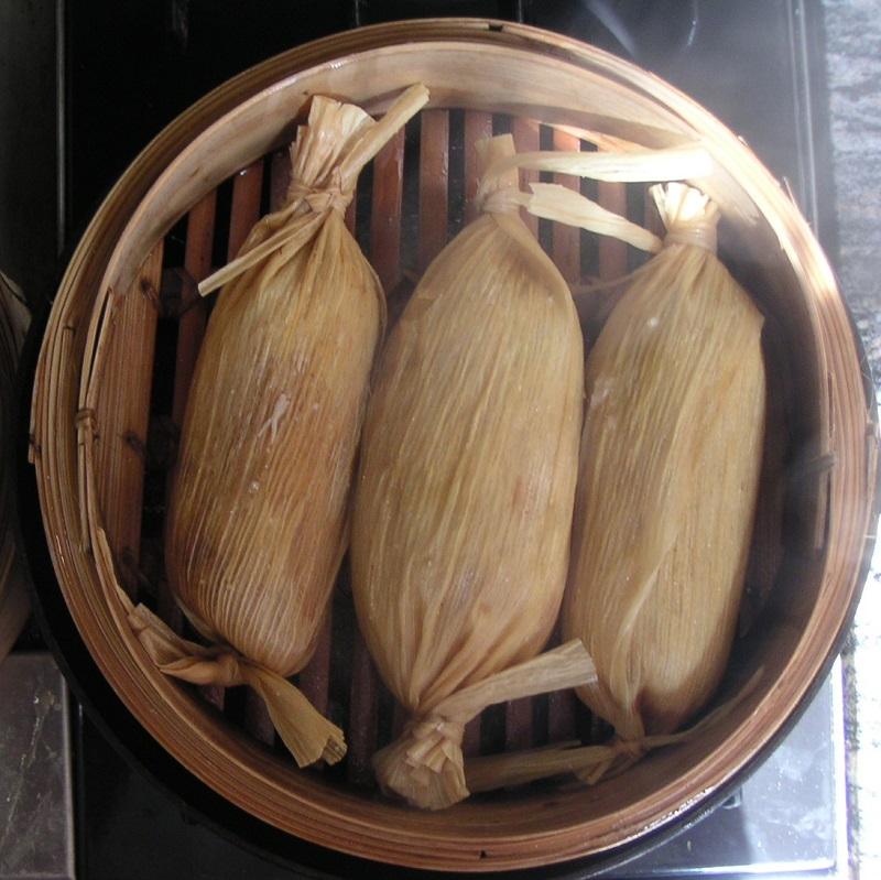 tamales panier osier