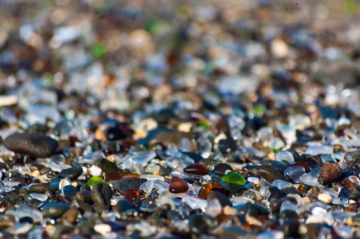 Plage de Glass Beach - Californie