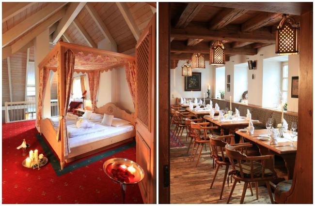 Chambre et restaurant de l'hôtel Insel Muehle de Munich