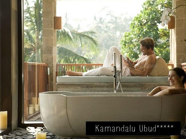 Couple à l'hôtel Kamandalu Ubud à Bali