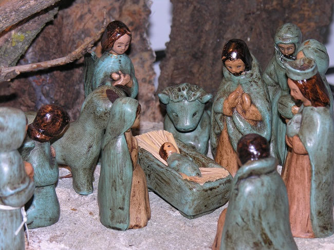 Crèche de Noël de Grignan - réalisée en Italie dans les Pouilles