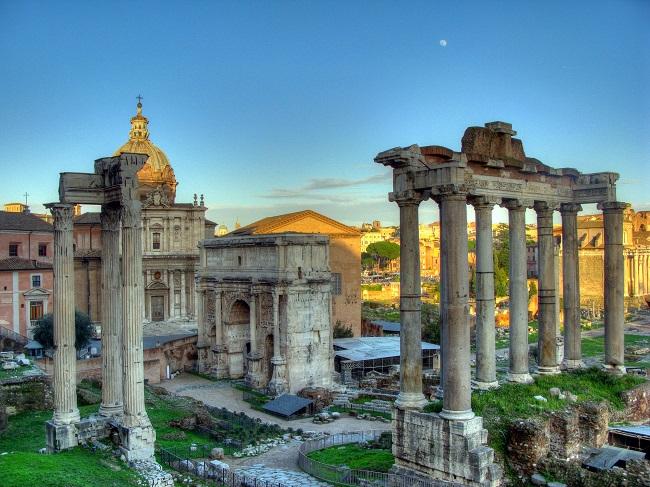 Arco di Settimio - Parcours du marathon de Rome