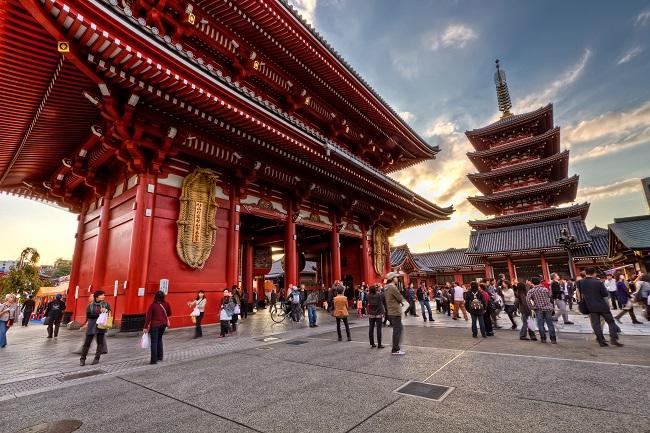 Porte d'Asakusa Kaminarimon - Parcours du marathon de Tokyo
