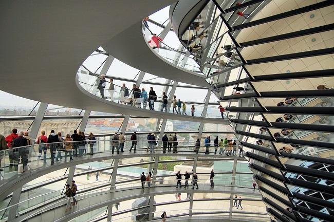 Coupole du Bundestag - Parcours du marathon de Berlin