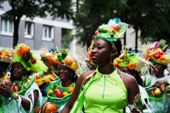 Défilé au carnaval tropical de Paris