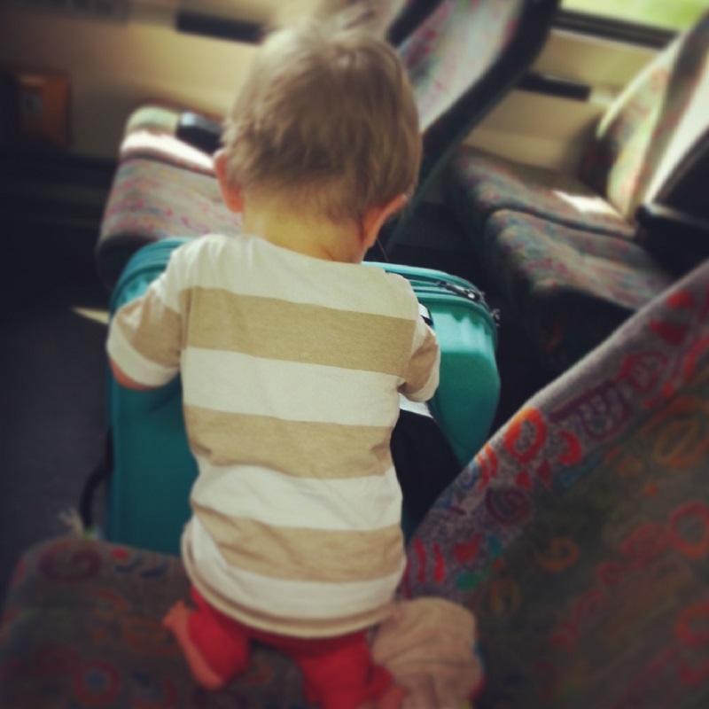 Enfant dans le train
