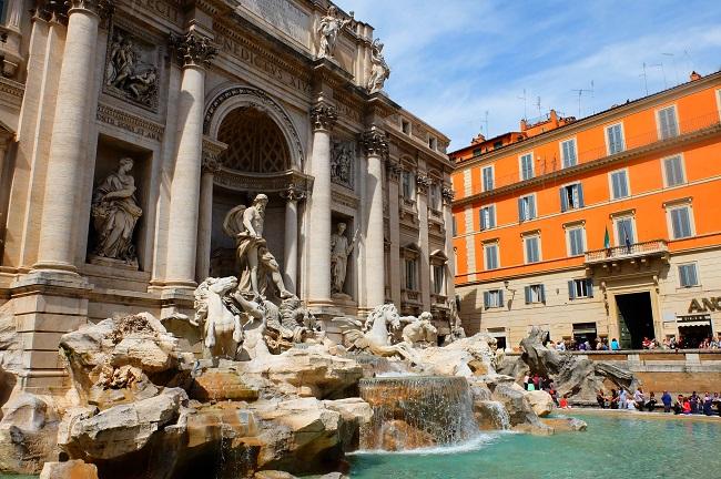 Fontaine de Trévi - Parcours du marathon de Rome