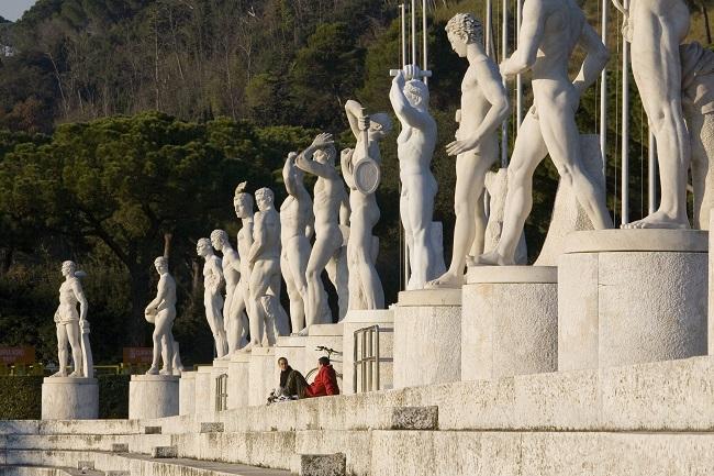Stade des Marbres du Foro Italico - Parcours du marathon de Rome