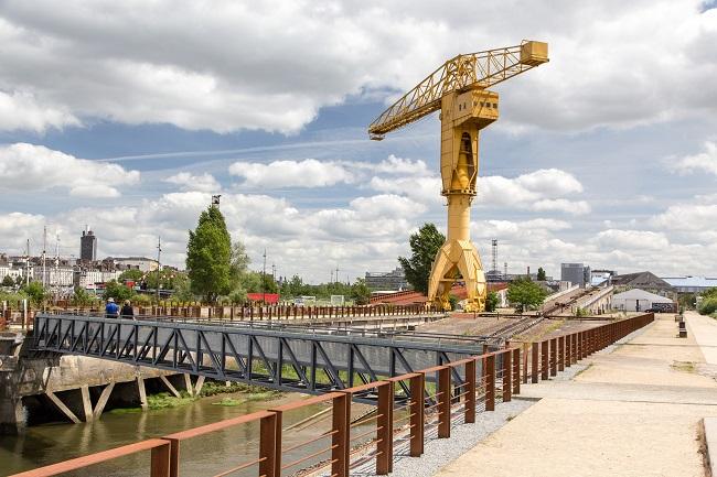 Grue jaune de Nantes - Parcours du marathon de Nantes