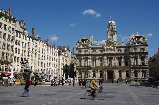 Hôtel de Ville de Lyon et Place des Terreaux - Parcours du marathon de Lyon