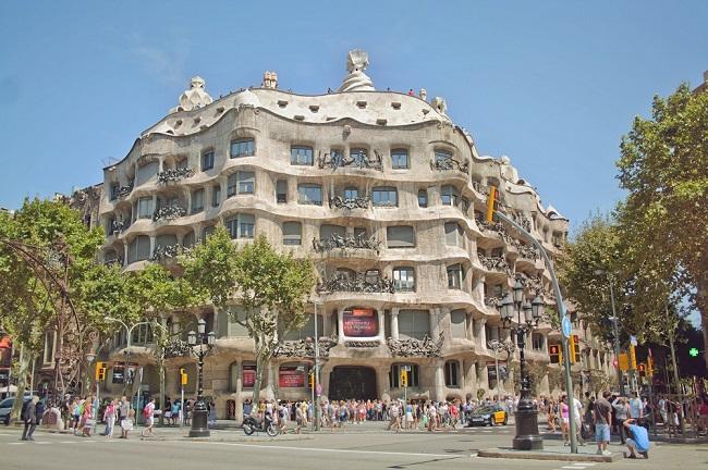 La Pedrera - Parcours du marathon de Barcelone