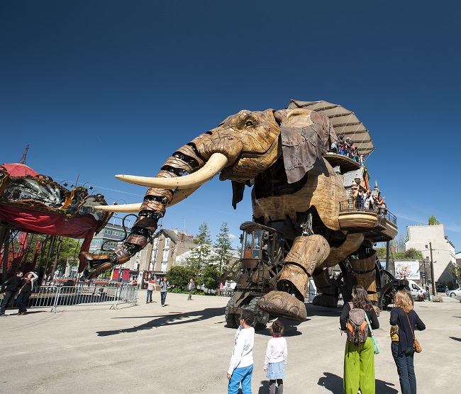 Elephant des Machines de l'île - Parcours du marathon de Nantes