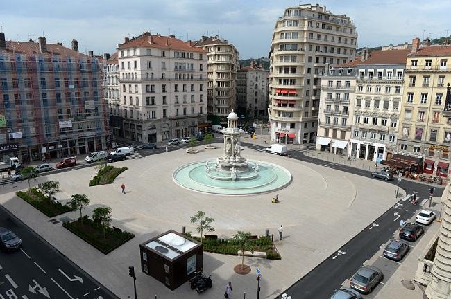 Place des Jacobins - Parcours du marathon de Lyon