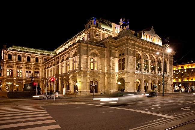 Extérieur de l'Opéra de Vienne - Parcours du marathon de Vienne